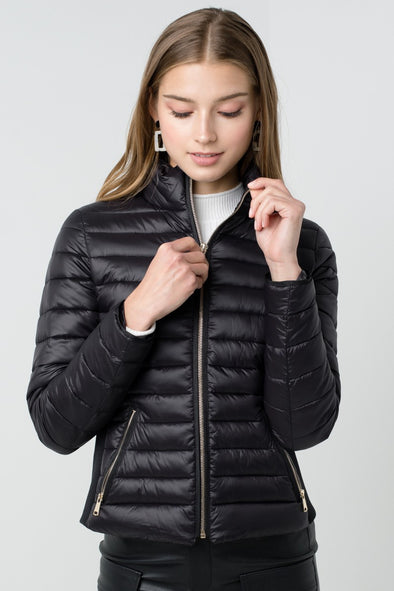 Warm Up Puffer Jacket - Black