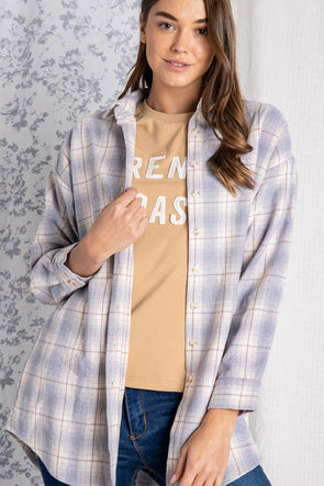 Long Gone Plaid Top