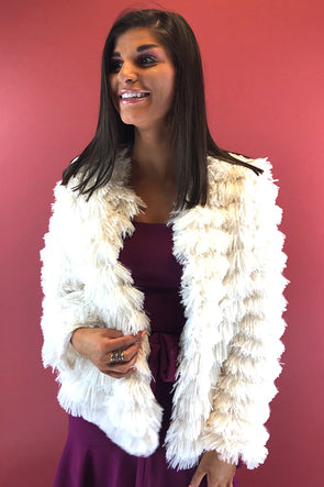Life of the Party Faux Fur Jacket - Cream