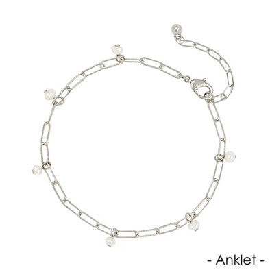 Link Chain with Pearl Charms Anklet