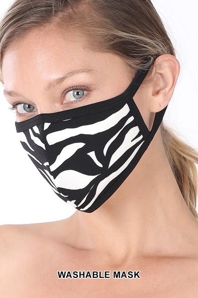 Cotton Zebra Face Mask
