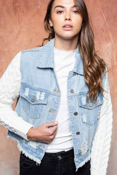 In Our Hearts Denim Jacket