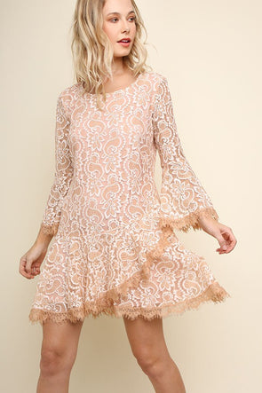 Walk Through the Roses Lace Dress