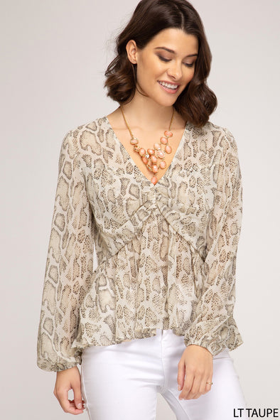 Remember This Snake Print Top