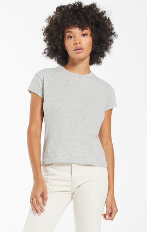 Modern Slub Tee - Heather Grey