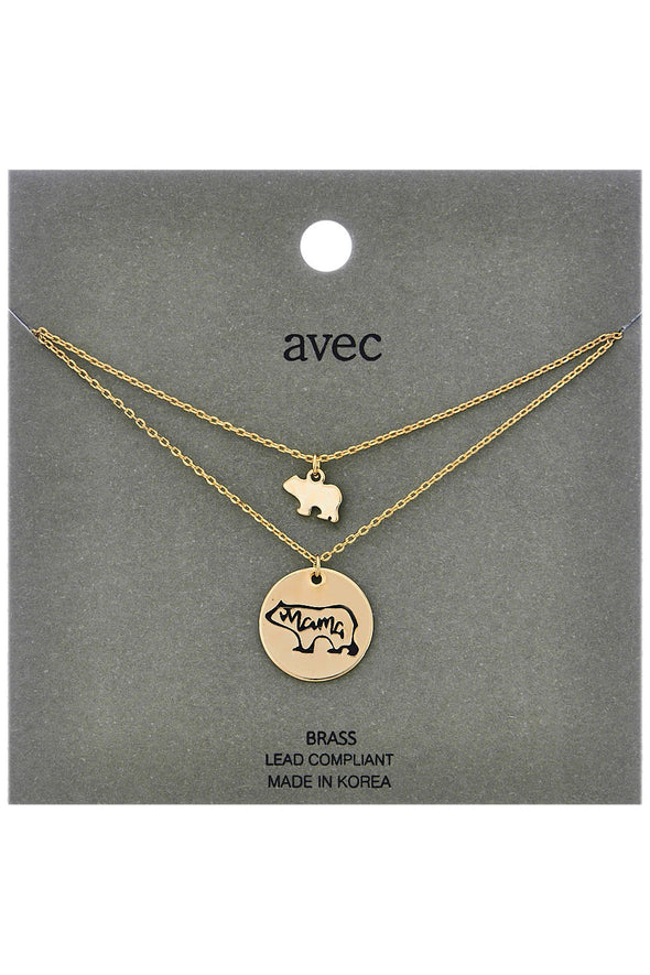 Mama Bear Necklace - Multiple Colors
