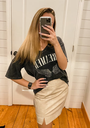 In the Future Vegan Leather Skirt