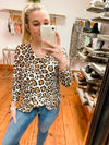 Too Good Leopard Top - Plus Size