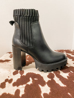 High Rise Black Booties