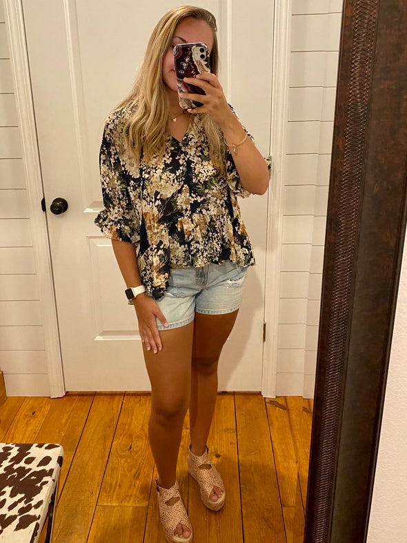 Been There Floral Top