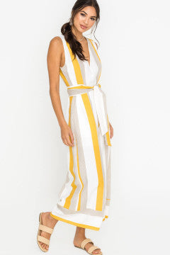 Ready for Sunshine Mustard Jumpsuit