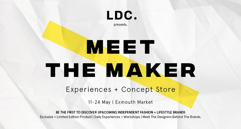 London Design Collective and Jennifer Hamley present Meet the Maker  May 2018