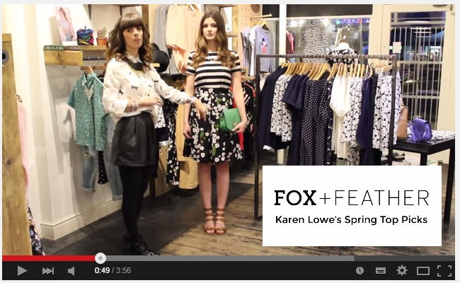FOX-AND-FEATHER-Spring-15-Top-Picks-YouTube