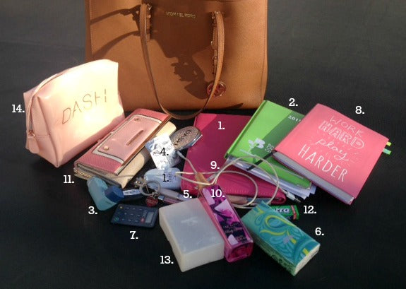 Jennie Bayliss Michael Kors What's in Your Handbag numbered.