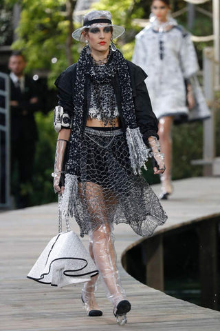 Chanel Handbag raincoat catwalk