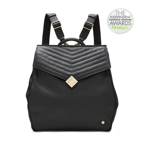 Convertible Leather Backpack - Jennifer Hamley luxury leather handbags and laptop bag for working women