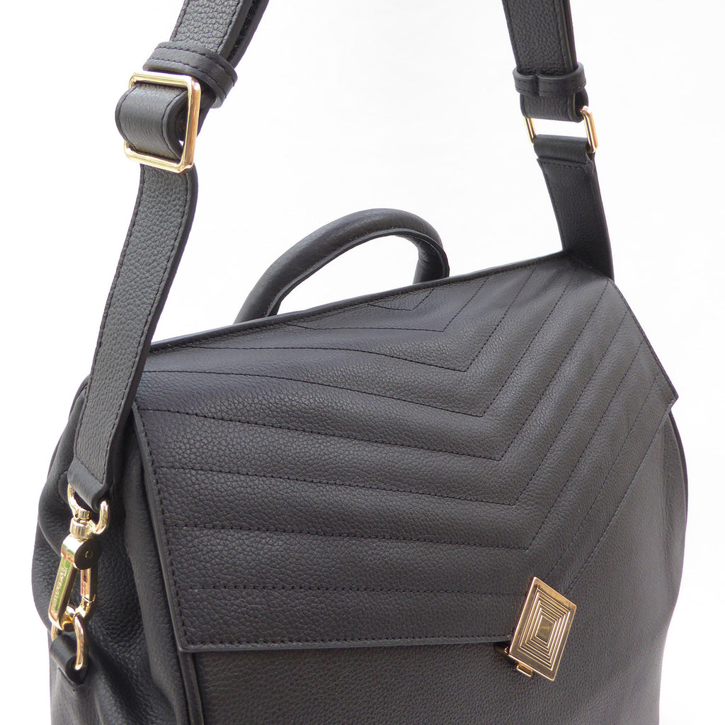 Journey Convertible Backpack | vegan - PRE ORDER - Jennifer Hamley luxury leather handbags and laptop bag for working women