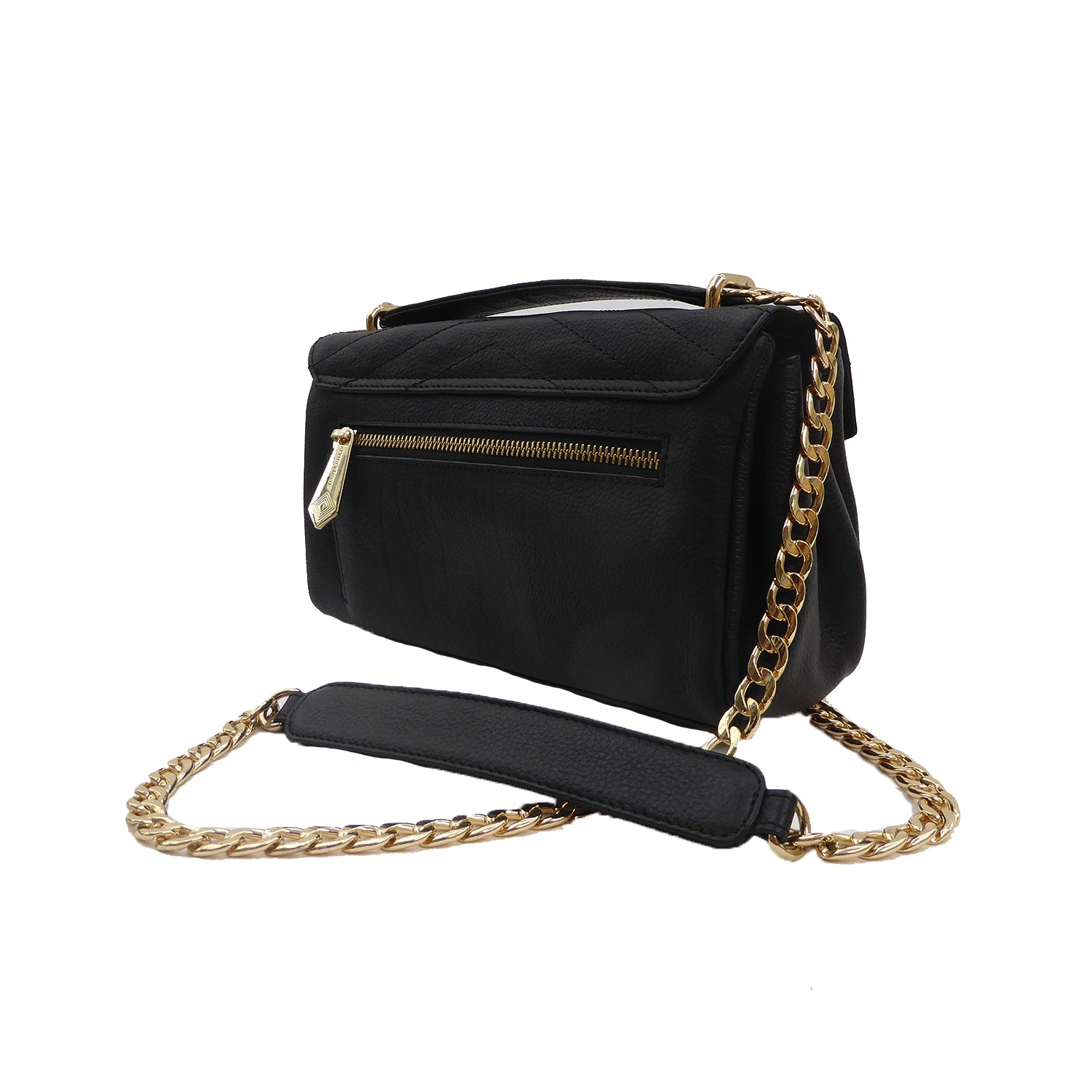 Vegan - Shoulder Chain Evening Bag - Jennifer Hamley luxury leather handbags and laptop bag for working women