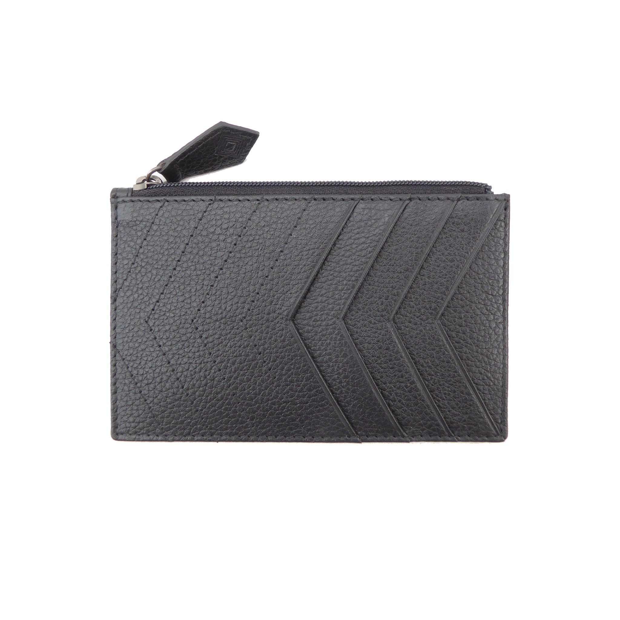 Chevrons Forever Cardholder | vegan - Jennifer Hamley luxury leather handbags and laptop bag for working women