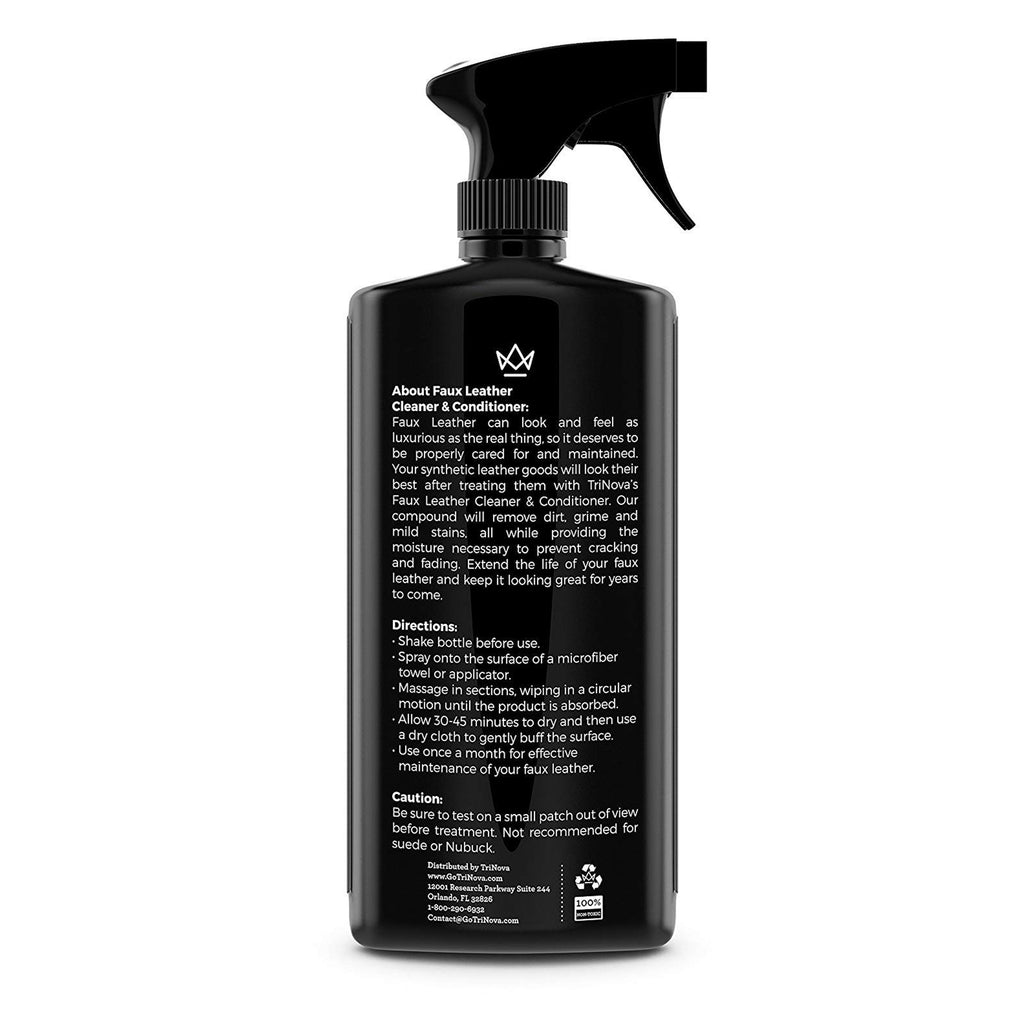 Vegan Leather Cleaner & Conditioner - TriNova - Jennifer Hamley luxury leather handbags and laptop bag for working women