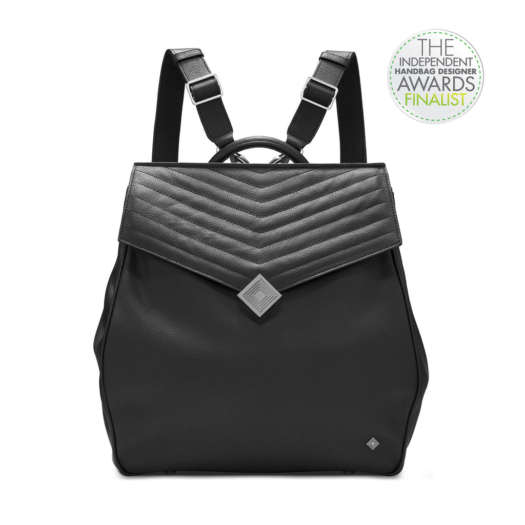 Vegan - Convertible Backpack - Jennifer Hamley luxury leather handbags and laptop bag for working women