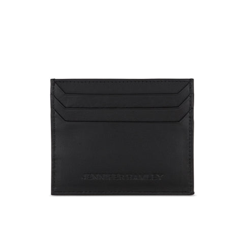 Alchemy Card Wallet in Black Leather - SALE - Jennifer Hamley luxury leather handbags and laptop bag for working women