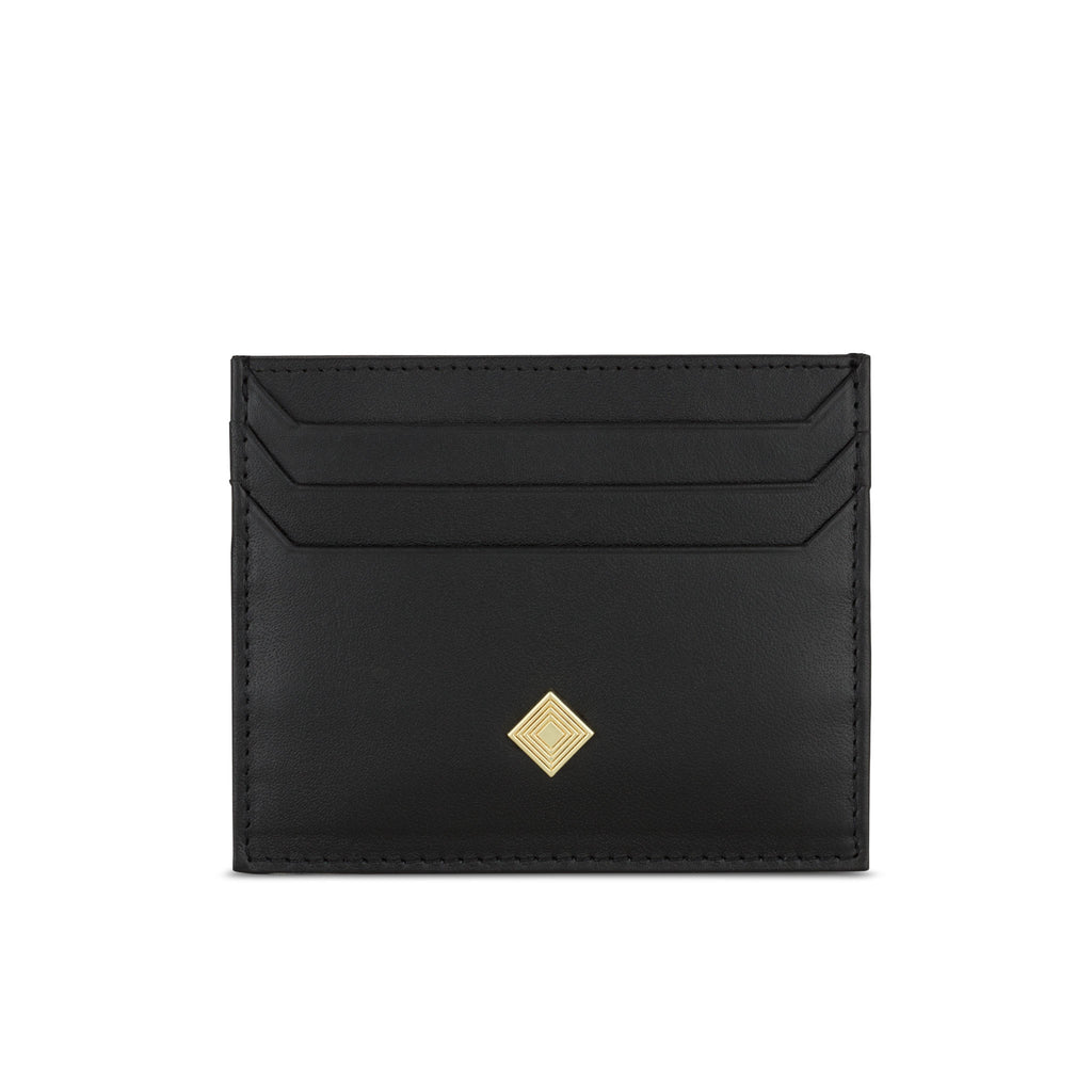 Alchemy Card Wallet in Black Leather - Jennifer Hamley luxury leather handbags and laptop bag for working women