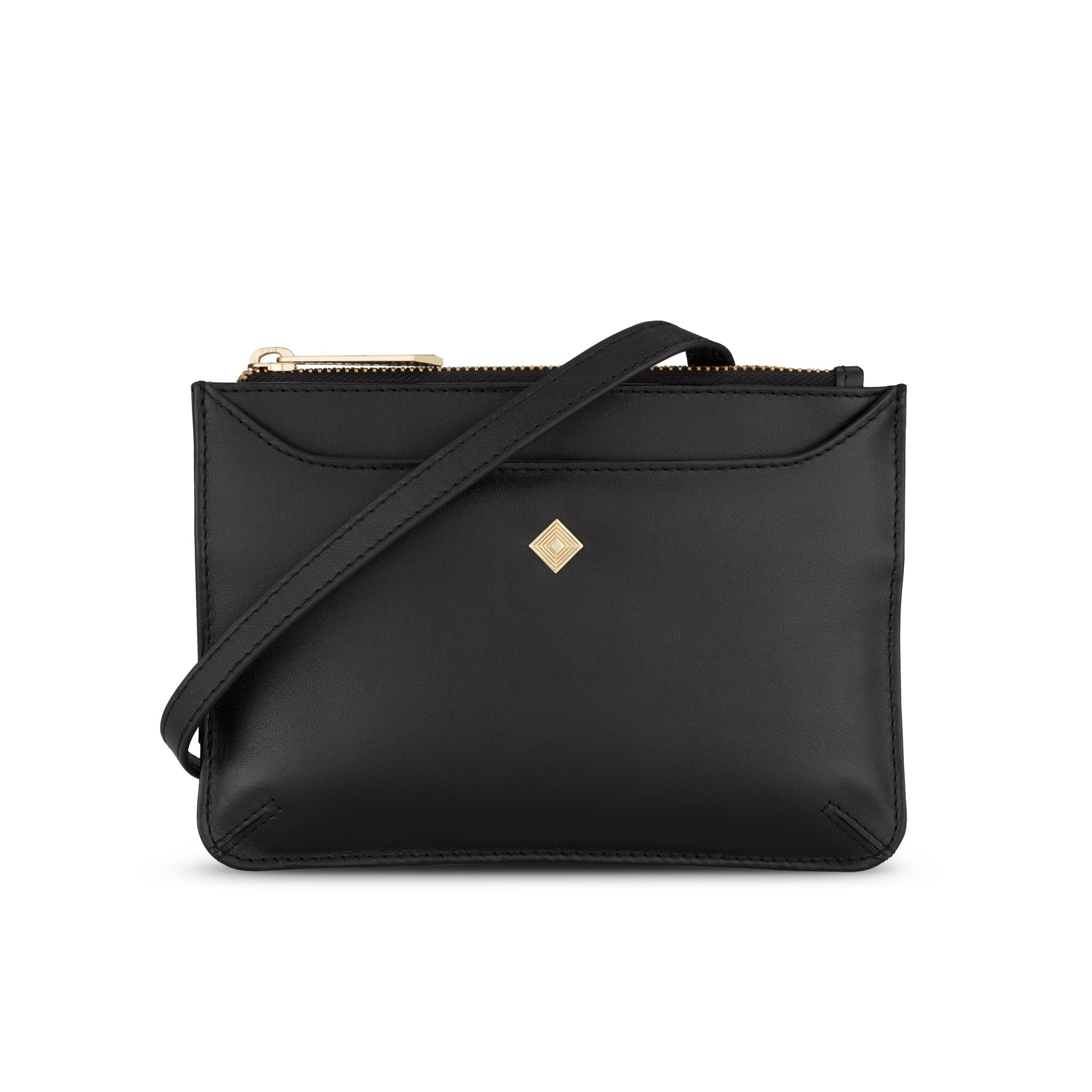 Midi Sakura in Black Leather - Jennifer Hamley luxury leather handbags and laptop bag for working women