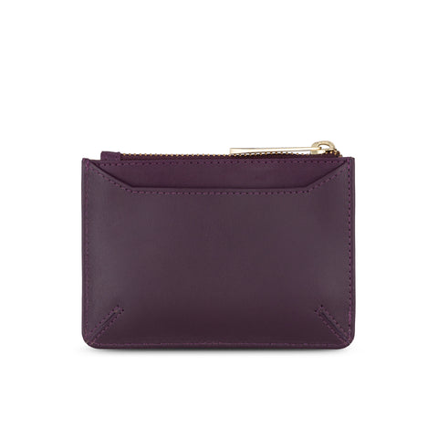 Sakura Purse in Aubergine Leather - Jennifer Hamley luxury leather handbags and laptop bag for working women