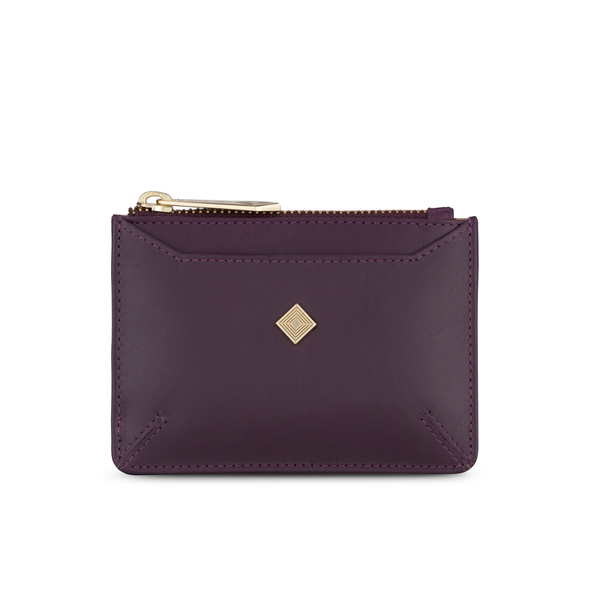 Sakura Purse in Aubergine Leather - SALE - Jennifer Hamley luxury leather handbags and laptop bag for working women