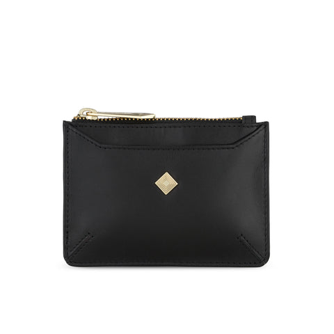Sakura Purse in Black Leather - SALE - Jennifer Hamley luxury leather handbags and laptop bag for working women