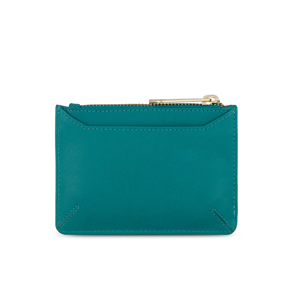 Sakura Purse in Teal Leather - Jennifer Hamley luxury leather handbags and laptop bag for working women