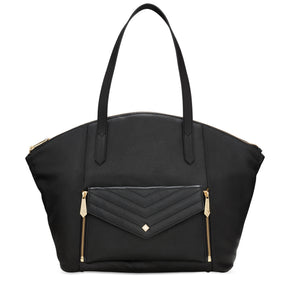 Vegan - Zip Top Tote - COMING SOON - Jennifer Hamley luxury leather handbags and laptop bag for working women