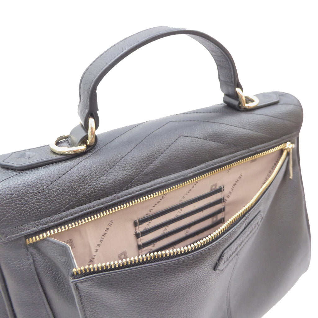 Lilian Grande Convertible Handbag/Backpack | vegan - SALE - 50% OFF - Jennifer Hamley luxury leather handbags and laptop bag for working women