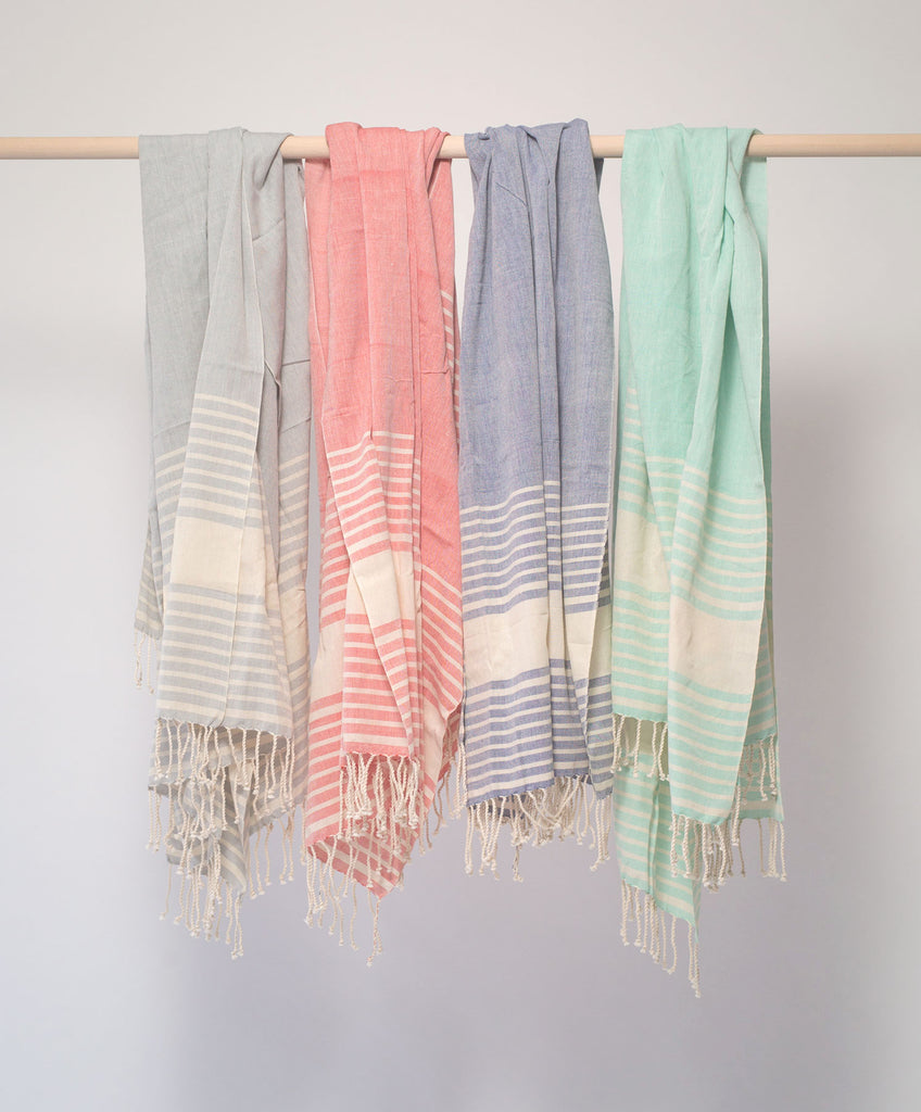 Handwoven bath towels