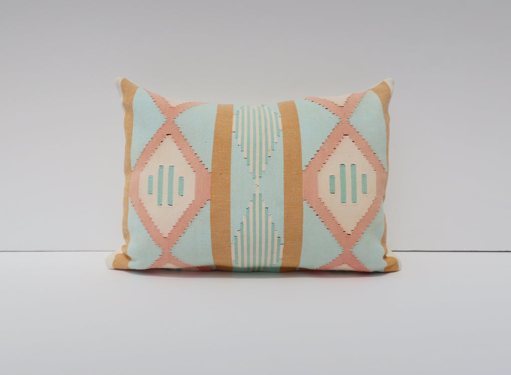 vintage handwoven pillow