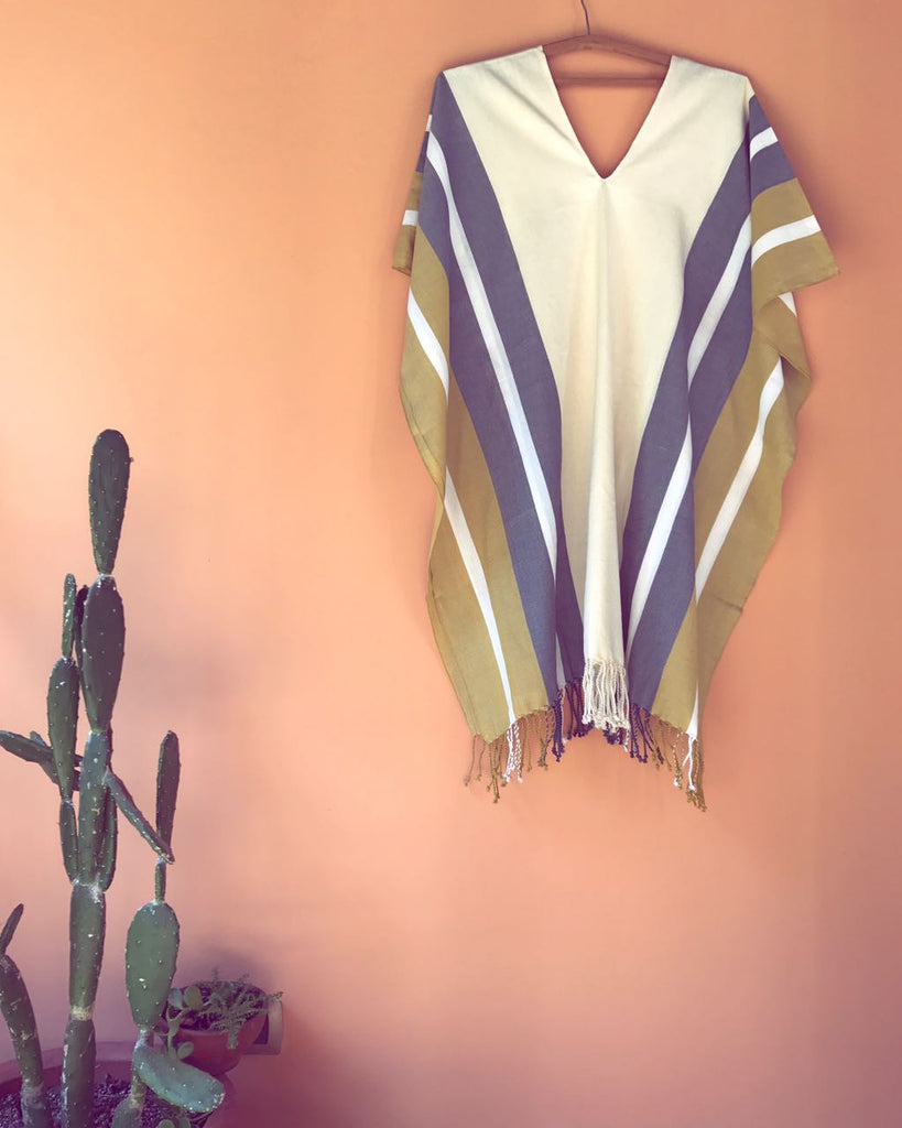 handwoven beach coverup poncho