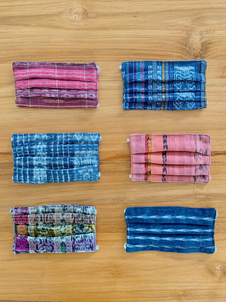 Handwoven Face Masks : Set of 5