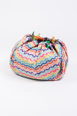 Storage Sack - Rainbow Chevron