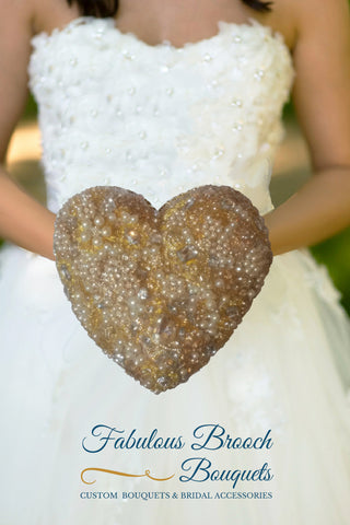 Heart Brooch Bouquet