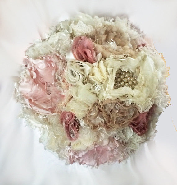 Shabby Chic Brooch Bouquet, Vintage Bouquet