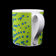 BUBBLE MUG (GREEN/BLUE SPOTS)
