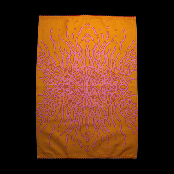 ANGEL WINGS TEA TOWEL (ORANGE/PINK)