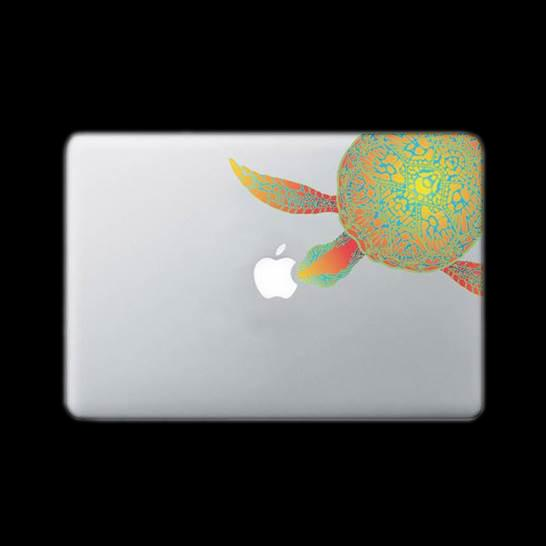 DECAL STICKER - TURTLE DESIGN - ORANGE