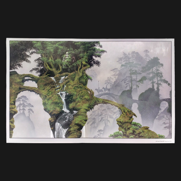 ASH AND WATERFALL 59X86 POSTER
