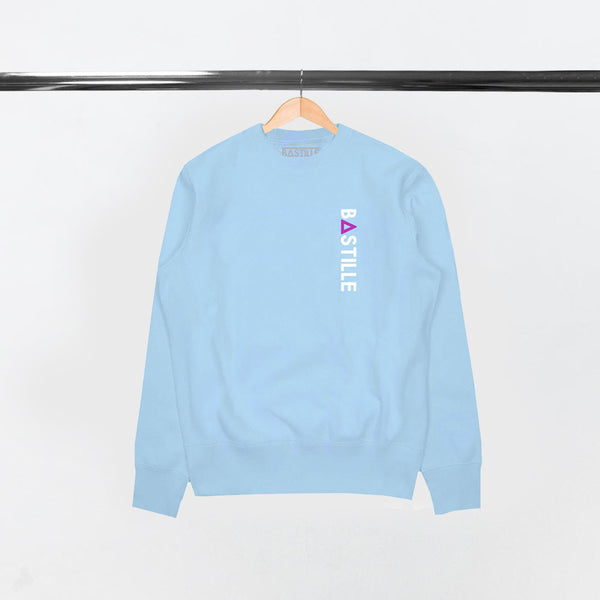 VERTICAL LOGO LT BLUE SWEATSHIRT