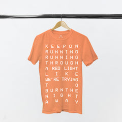 KEEP ON RUNNING CORAL T-SHIRT
