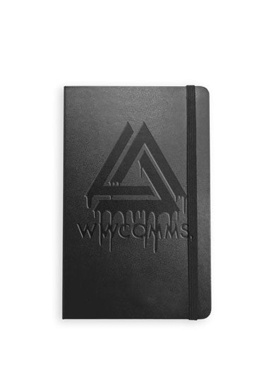 WWCOMMS. DEBOSSED NOTEBOOK