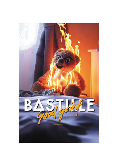 GOOD GRIEF BURNING BEAR POSTER