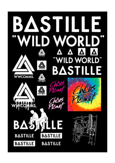 """WILD WORLD"" STICKER SHEET"
